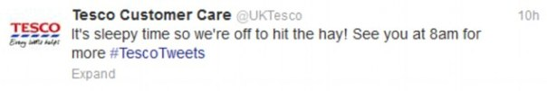 Tesco tweet
